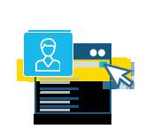 Ícones funcionamento - Os clientes pesquisam na Lista Mais